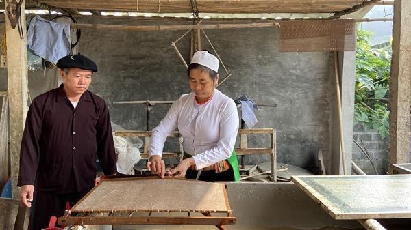 Độc đáo giấy dó Lương Sơn