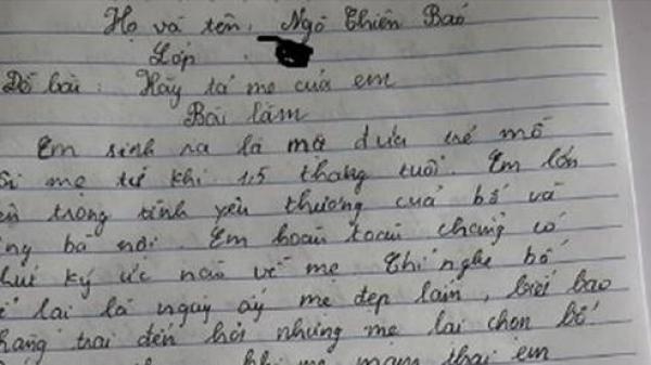 Bài văn tả người mẹ đã khuất khiến bao người bật khóc