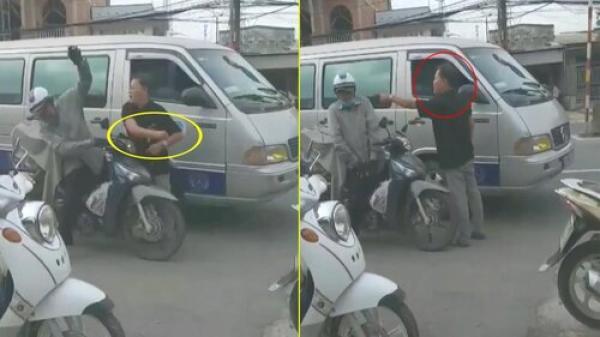 Clip: Tài xế ô tô đấm liên tục vào mặt người đi xe máy sau va chạm giao thông gây phẫn nộ