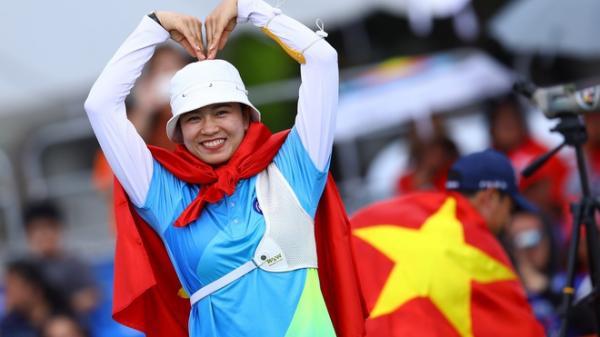 Cô gái Bắc Giang xuất sắc giành được HCV SEA Games môn bắn cung