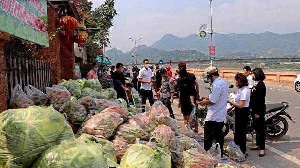 """Người dân Hòa Bình """"giải cứu"""" nông sản Hải Dương"""