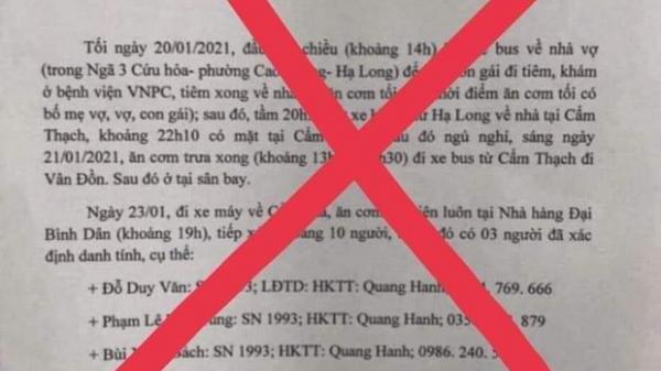 """Không có bệnh nhân COVID-19 đi karaoke """"tay vịn"""" như thông tin lan truyền"""