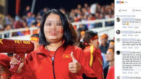 """Hô khẩu hiệu: """"Bay lên trời là em bay ra ngoài"""", nữ CĐV bị dân mạng t.ấn c.ông tài khoản Facebook"""